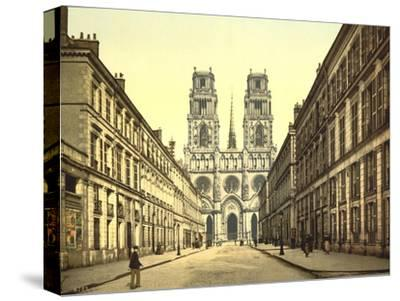 Joan of Arc Street, Orléans, France, C.1890-C.1900--Stretched Canvas Print
