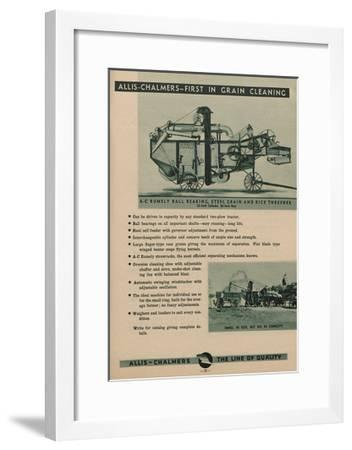 Allis Chalmers Rumely Ball Bearing, Steel Grain and Rice Thresher--Framed Giclee Print