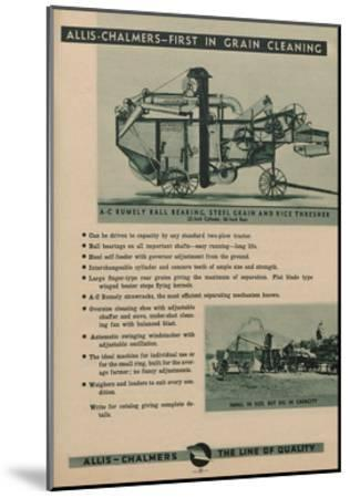Allis Chalmers Rumely Ball Bearing, Steel Grain and Rice Thresher--Mounted Giclee Print