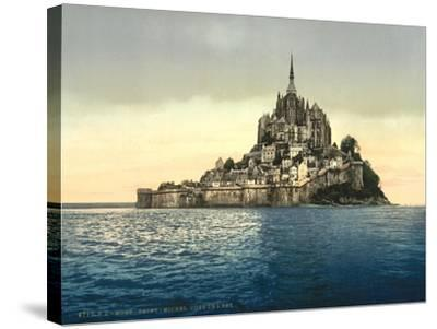 East Coast at High Water, Le Mont St. Michel, France--Stretched Canvas Print