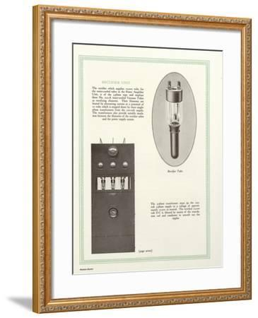 Western Electric Company's Rectifier Unit--Framed Giclee Print