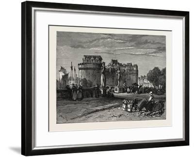 View in Nantes, on the Loire, France--Framed Giclee Print