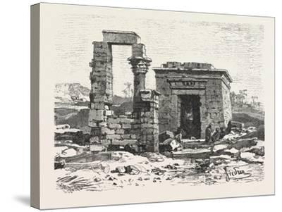 Temple of Hermonthis, Egypt, 1879--Stretched Canvas Print