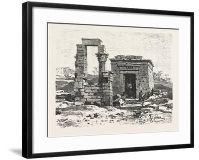 Temple of Hermonthis, Egypt, 1879--Framed Giclee Print