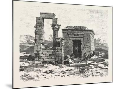 Temple of Hermonthis, Egypt, 1879--Mounted Giclee Print
