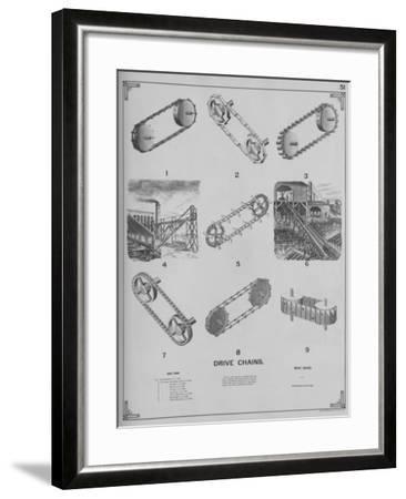 Drive Chains--Framed Giclee Print