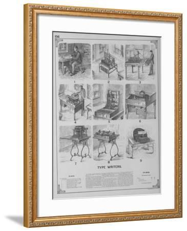 Typewriters--Framed Giclee Print