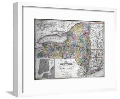 Map of the State of New York, 1850--Framed Giclee Print