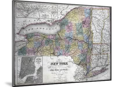 Map of the State of New York, 1850--Mounted Giclee Print