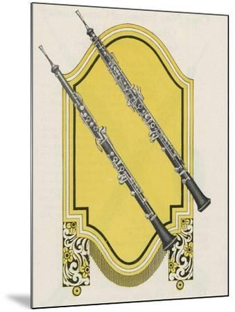 Two Charles Gerard Conn New Wonder Oboes--Mounted Giclee Print