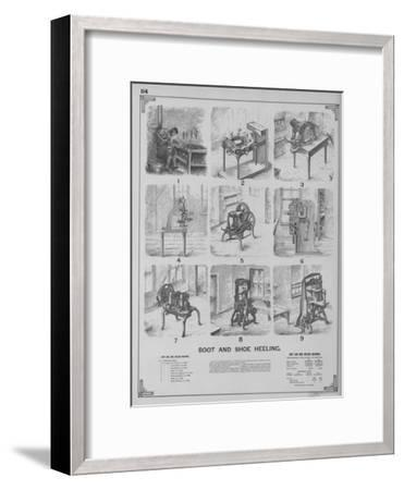 Boot and Shoe Heeling--Framed Giclee Print