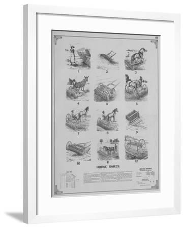 Agricultural Implements - Horse Rakes--Framed Giclee Print