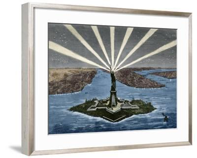 United States. New York. Statue of Liberty--Framed Giclee Print
