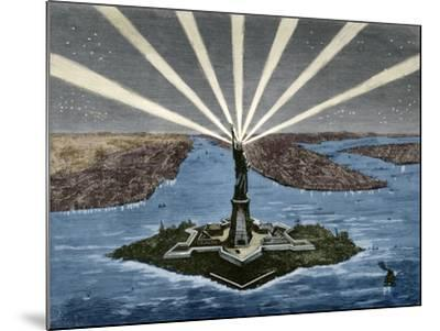 United States. New York. Statue of Liberty--Mounted Giclee Print