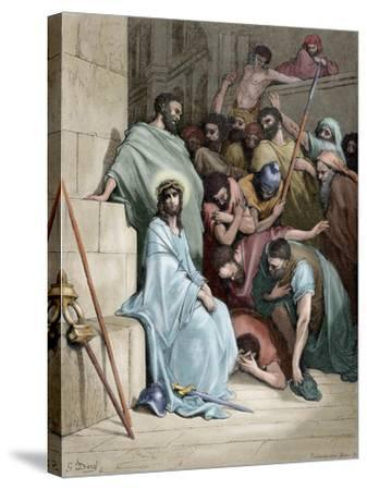 Jesus Insulted--Stretched Canvas Print