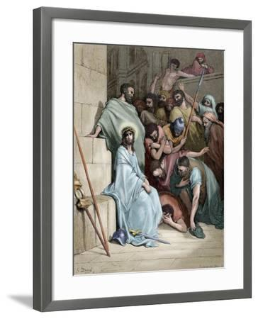 Jesus Insulted--Framed Giclee Print