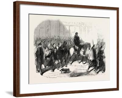Passage, Lyon, Zouaves, Returning from Crimea, France, 1855.--Framed Giclee Print
