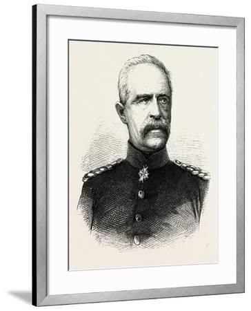 Franco-Prussian War: Bonin General, Governor General of Lorraine--Framed Giclee Print