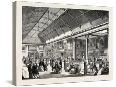 The Picture Gallery in Dublin International Exhibition, Ireland, 1865--Stretched Canvas Print