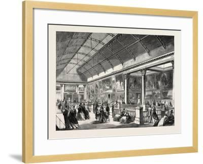 The Picture Gallery in Dublin International Exhibition, Ireland, 1865--Framed Giclee Print