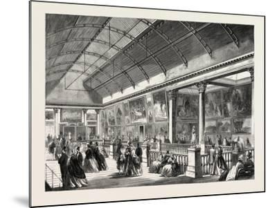 The Picture Gallery in Dublin International Exhibition, Ireland, 1865--Mounted Giclee Print