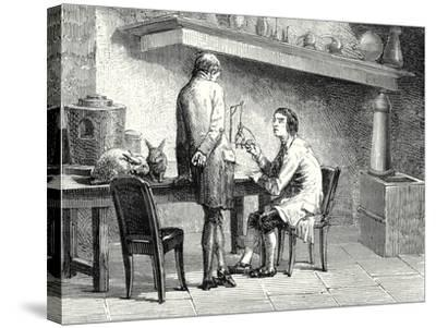Humboldt and Hallé Repeating the Experiments of Galvani and Volta--Stretched Canvas Print