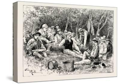 A Buck-Hunting Excursion in South Africa: Tiffin in the Bush--Stretched Canvas Print