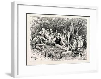 A Buck-Hunting Excursion in South Africa: Tiffin in the Bush--Framed Giclee Print