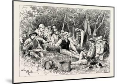 A Buck-Hunting Excursion in South Africa: Tiffin in the Bush--Mounted Giclee Print