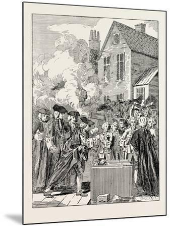 Laying the Foundation-Stone of Blackfriars Bridge 1760 London--Mounted Giclee Print