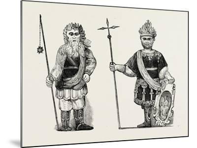 Figures of Gog and Magog Set Up in Guildhall after the Fire London--Mounted Giclee Print
