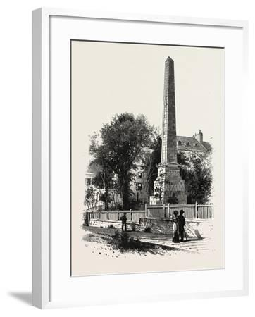 Monument to Wolfe and Montcalm., Canada, Nineteenth Century--Framed Giclee Print