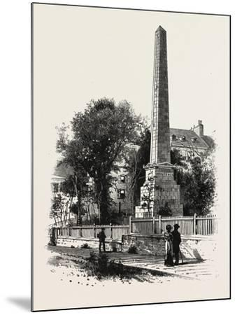 Monument to Wolfe and Montcalm., Canada, Nineteenth Century--Mounted Giclee Print