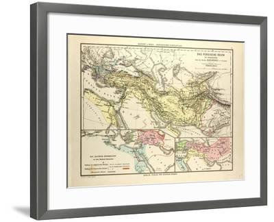 Map of the Persian Empire and the Empire of Alexander the Great--Framed Giclee Print