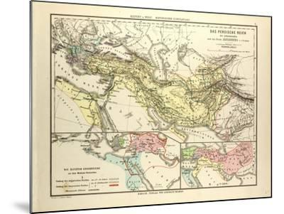 Map of the Persian Empire and the Empire of Alexander the Great--Mounted Giclee Print