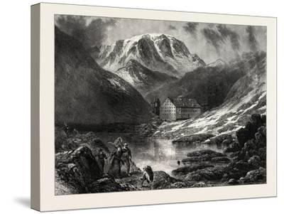 Hospice of the Great, St. Bernard, Switzerland, 19th Century--Stretched Canvas Print