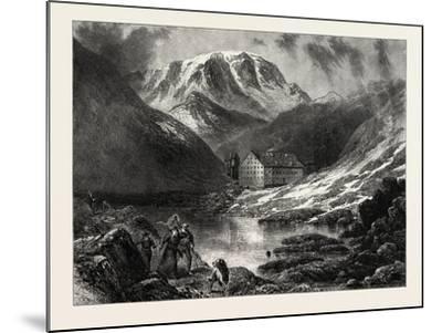 Hospice of the Great, St. Bernard, Switzerland, 19th Century--Mounted Giclee Print