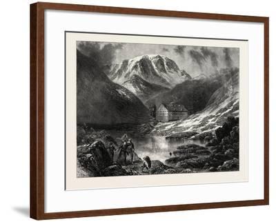 Hospice of the Great, St. Bernard, Switzerland, 19th Century--Framed Giclee Print