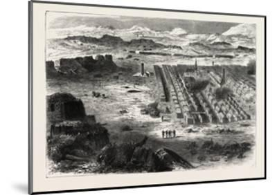Franco-Prussian War: View of the Camp Pe Conlie Near Mans 1870--Mounted Giclee Print
