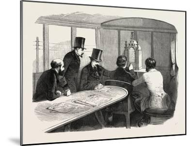 Telegraphy Locomotives. Inside the Car During Operation, 1855.--Mounted Giclee Print