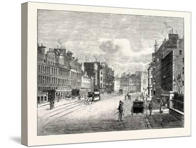 Edinburgh: Leith Walk from Gayfield Square Looking South--Stretched Canvas Print