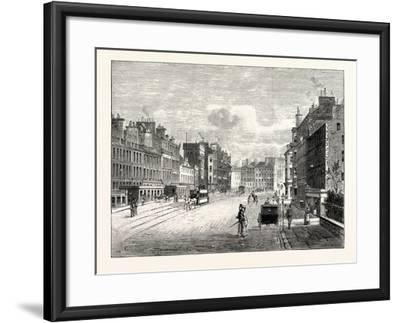 Edinburgh: Leith Walk from Gayfield Square Looking South--Framed Giclee Print