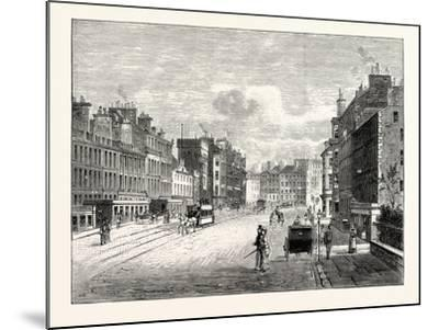 Edinburgh: Leith Walk from Gayfield Square Looking South--Mounted Giclee Print