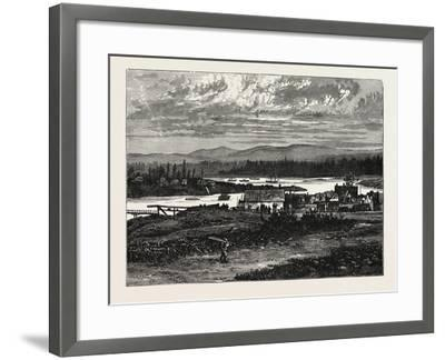 View of the Western Suburbs of Victoria, Vancouver Island--Framed Giclee Print