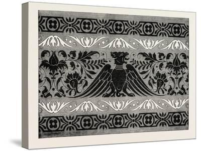Border Satin-Stitch or Cross-Stitch Embroidery, 1882--Stretched Canvas Print