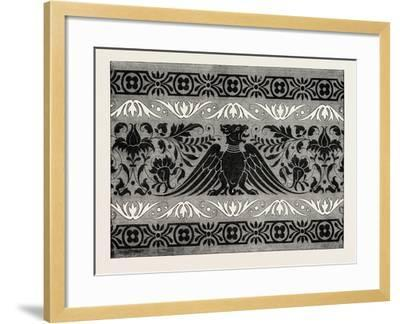 Border Satin-Stitch or Cross-Stitch Embroidery, 1882--Framed Giclee Print
