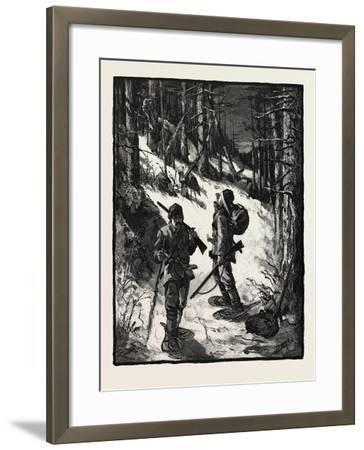 Exploring for New Limits, Canada, Nineteenth Century--Framed Giclee Print