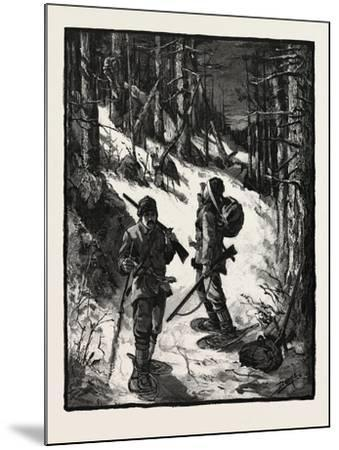 Exploring for New Limits, Canada, Nineteenth Century--Mounted Giclee Print