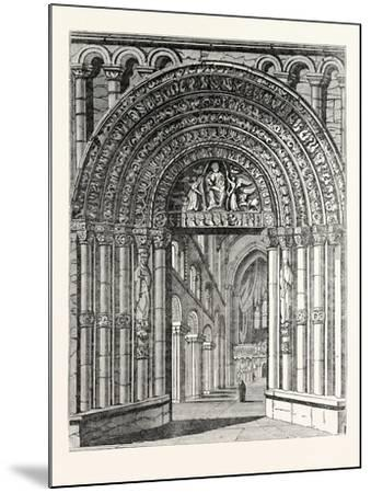 Principal Entrance and Interior of Rochester Cathedral--Mounted Giclee Print