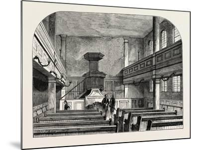 Interior of the Moravian Chapel in Fetter Lane London--Mounted Giclee Print